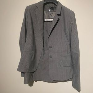 H&M Gray pinstripe skirt suit - great condition
